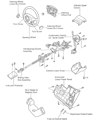 9 exploded view of the steering column 1995 96 land cruiser