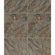 wellmade luxury vinyl tile 5 piece 12 in x 36 in multi color slate interlocking vinyl tile