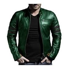 men pu leather highstreet green jacket xs 3xl