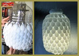 making lamp shades diy shade plastic spoon home ideas collection