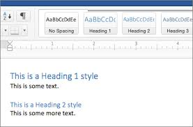 Ms Word Header Add A Heading Office Support