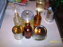 picture of free oil lamps with used cooking oil as an additive to lamp fuel