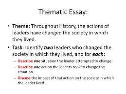 cracking the global regents thematic essay ppt  thematic essay theme throughout history the actions of leaders have changed the society