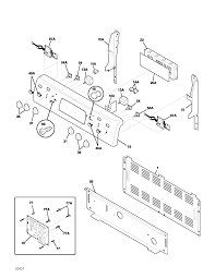 plef398aca electric range backguard parts diagram