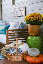 Fall Porch Decorating Cozy And Colorful Fall Porch Decorating The Home I Create