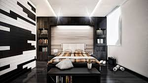 Modern Bedroom Wall Designs Small Mirror On The Grey Wall Of Modern Painted Black Wall Ideas