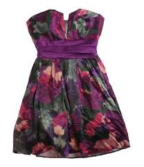 B Darlin Dress Size Chart B Darlin Womens Strapless Floral Sundress Greypurple 9 10