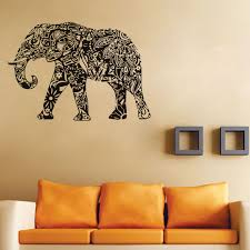 Small Picture Aliexpresscom Buy Indian Elephant Wall Sticker Bedroom Vinyl