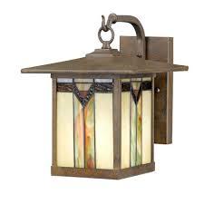 frank lloyd wright outdoor lighting. Frank Lloyd Wright / Tiffany Style Outdoor Wall Light $64.98 Lighting N