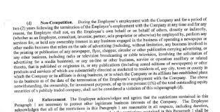 Noncompete Clause A Newspaper Companys Atrociously Exploitative Noncompete Agreement