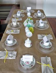 Tea Party Bridal Shower Table Setting