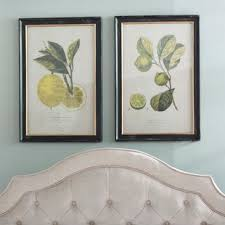 lemon lime 2 piece framed vintage advertisement set on 2 piece wall art wayfair with 2 piece wall art you ll love wayfair