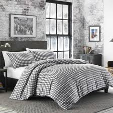 ed bauer preston 3 piece grey king duvet cover set