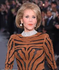 jane fonda pictured 79 shared that she was wearing l oreal s