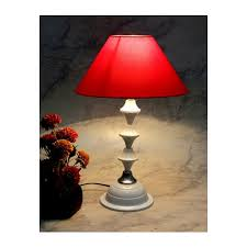 white with silver base table lamp with 10