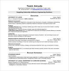 resume for developer