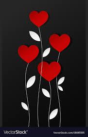 Valentines Day Hearts Card Design Background