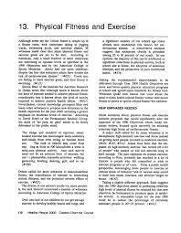 13 Physical Fitness And Exercise Healthy People 2000