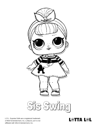 Sis Swing Coloring Page Lotta Lol Lol Party Coloring Pages