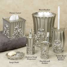 fatima pewter colored bath accessories thumbnail image