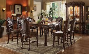 acme vendome 62025 set cherry square counter height dining room set 5pcs