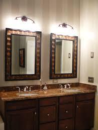 Bathroom: Elegant Double Bathroom Mirror Ideas Lighted With Double Sink -  Cheap Bathroom Mirrors