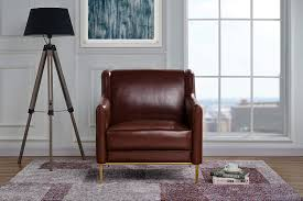 details about sleek leather match armchair accent chair for living room brown
