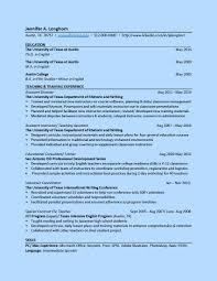 higher education resume samples