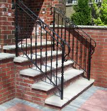 exterior wrought iron stair railings.  Railings Wrought Iron Outdoor Stair Railings How To Select The Exterior R