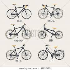 Vector Set Bicycles Vector Photo Free Trial Bigstock