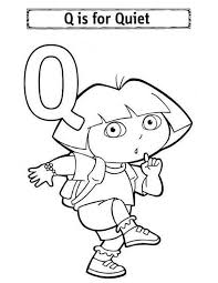 Small Picture Alphabet Letter Q for Quiet Coloring Page Bulk Color