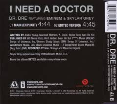 i need a i need a doctor 2 track eminem dr dre skylar grey amazon de musik