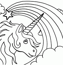 Colorful creative kids coloring books now available on amazon! Unicorn Rainbow Coloring Pages Coloring Home