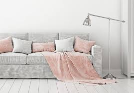 d the throw over the side of the sofa or chair on the arm folding it in a triangle or cally laying it over the seat and arm adds a diffe