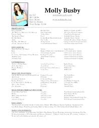 Tech Theatre Resume Theater Resume Template Sample Acting Resume Template Early