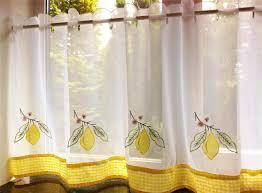 Kitchen Cafe Curtains Kitchen Cafe Curtains For Kitchen With Yellow Cafe Curtains For