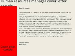 Ideas Of Resume Cover Letter Hr Manager Cover Letter To Hr