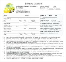 Free Rental Form Tenant Contract Template Free Car Rental Agreement Template Car Hire