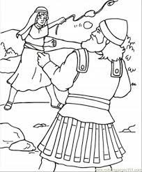 David Goliath Coloring Page Free Religions Coloring Pages