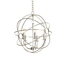 cassie chandelier 693 00 the cassie chandelier is a polished nickel orb