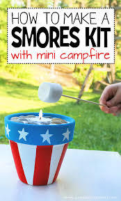 diy smores kit with mini campfire
