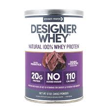 Designer Whey Protein Chocolate Designer Whey Premium Natural 100 Whey Protein Double Chocolate 32 Ounce