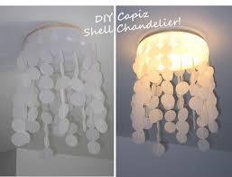 designer look alike diy capiz shell chandelier