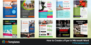 fit templates business card brochure flyer templates how to create a flyer in microsoft word