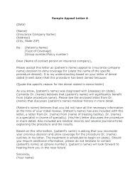 Writing An Appeal Letter Disability Appeal Letter Template