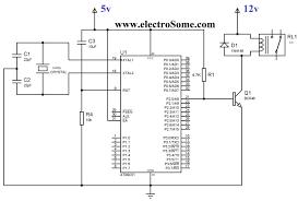 interfacing relay 8051 using keil c at89c51 interfacing relay 8051 using transistor circuit diagram