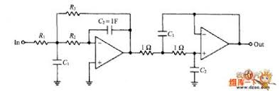 four stage bessel low pass filter circuit diagram electronics circuit diagram
