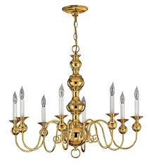 hinkley 5128pb virginian 8 light 30 inch polished brass chandelier ceiling light photo