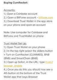 Coinbase to CumRocket (How to Buy) : CumRocket