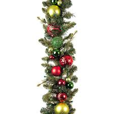 Battery Operated Lighted Garland 9 Ft Festive Holiday Garland Pre Lit And Battery